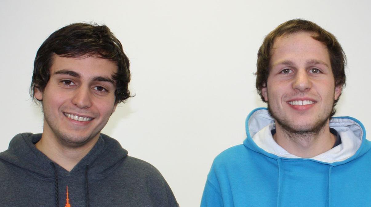 v.l.: Die beiden Sieger des Lavespreises Leif Buchmann und Martin Franck.