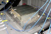 MORE auf der Vibrationstestanlage während der Entwicklung