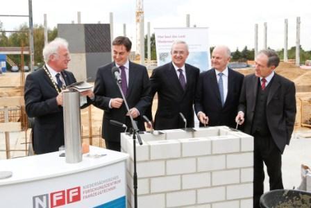 Grundsteinlegung Forschungsneubau NFF