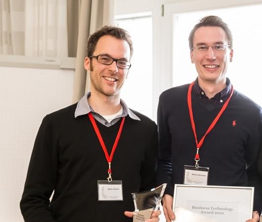 v.li.n.r. Dr. Martin Hibbeln, Markus Weinmann/ Foto: Thomas Effinger, McKinsey & Company