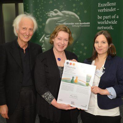 v.li.n.r. Prof. Dr. Helmut Schwarz, Dr. Astrid Sebastian, Kathrin Huter