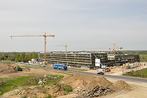 Der Neubau von oben