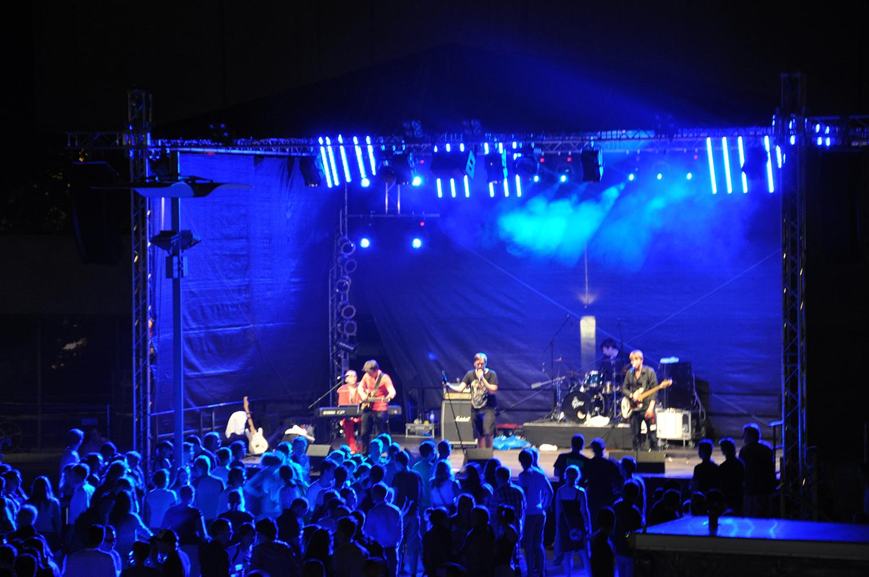 Die Bühne auf dem Forumsplatz bei der TU-NIGHT 2012