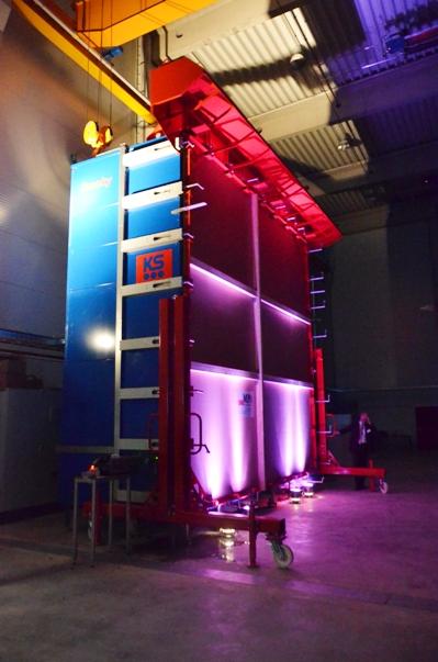 """Der Rauchschutzprüfstand """"Smoky"""" in der neuen Prüfhalle der Materialprüfanstalt. (Foto: MPA)"""