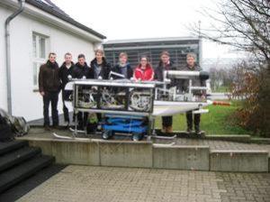 Winterliche Tests im Freien zur Überprüfung des Gesamtsystems. (IFF/TU Braunschweig)