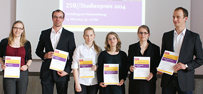 Die Preisträgerinnen und Preisträger v.l.: Janina Stire, David Wille, Henrike Ehrhorn, Rebekka Rohdenburg, Manuela Klisch, Physik, Christian Rählmann.