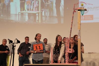 """Die Maschine des """"K@osgirls""""-Teams der Hauptschule Edemissen, die für das beste Gesamtpaket der Schüler  ausgezeichnet wurde."""