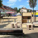 Der fertige Offene Bücherschrank am Nibelungenplatz