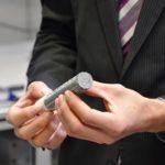 Probenstück aus einem veraschten Filter zum Einbau in den Laborgasprüfstand