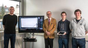"""Das """"ToOL#""""-Projektteam: Frieder Juretzek, Prof. Urlich Reimers, Stefan Ilsen und Daniel Rother (Foto: IfN)."""