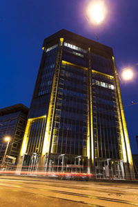 So leuchtet bei TU-NIGHT 2015 das Informatikzentrum