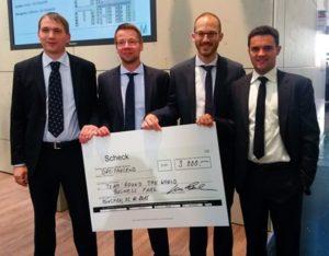Das Braunschweiger IIM-Team: Finn Szemborski, Christian Lommer, Maurizio Russo, Sebastian Gruhle. (Kristin Kaufmann/TU Braunschweig/IIM)