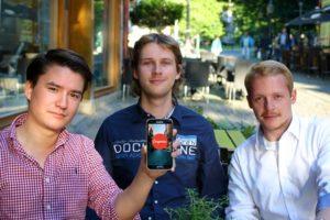 Das Couponiac-Team: Nils Fuchs, Pascal Slanina und Kristoph Siemens. (Couponiac/TU Braunschweig)