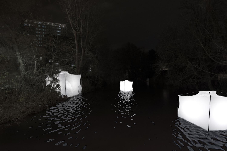 Von der Uni in die Stadt strahlen: Studentisches Projekt beim Lichtparcours 2016