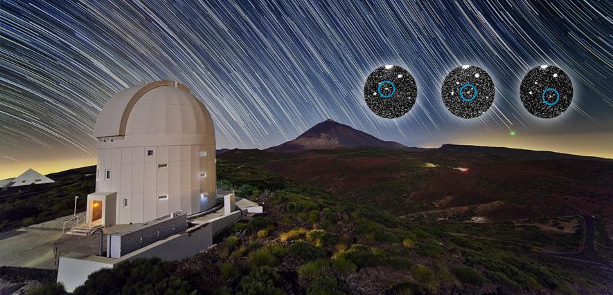 """Das Bild des Monats April aus der Reihe """"Space in Images"""" der ESA zum Asteriod """"Heinerklinkrad"""". (Rechte: ESA/TOTAS/M. Busch/R. Kresken/D. Pazos)"""