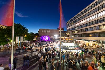 Der Forumsplatz während der TU-Night 2015