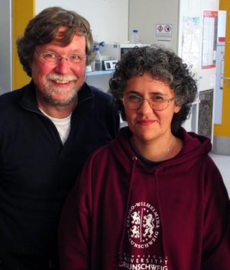 Prof. Stefan Dübel und Dr. Gertrudis Rojes