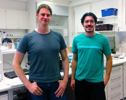 Prof. Michael Hust und Gustavo Moreira
