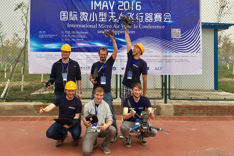Das Team der AKAMAV in Peking (v. l. oben): Mario Gäbel, Markus Bobbe, Dimitry Zhukov, Benjamin Hülsen, Endres Kathe, Alexander Kern. Bildnachweis: AKAMAV