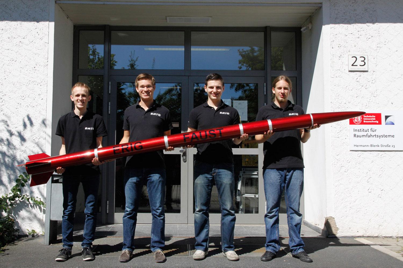 Vier Studenten der ERIG.