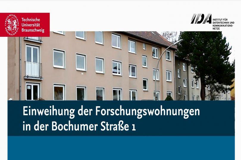 Das Bild zeigt das Gebäude der Forschungswohnungen in Braunschweig-Querum von außen