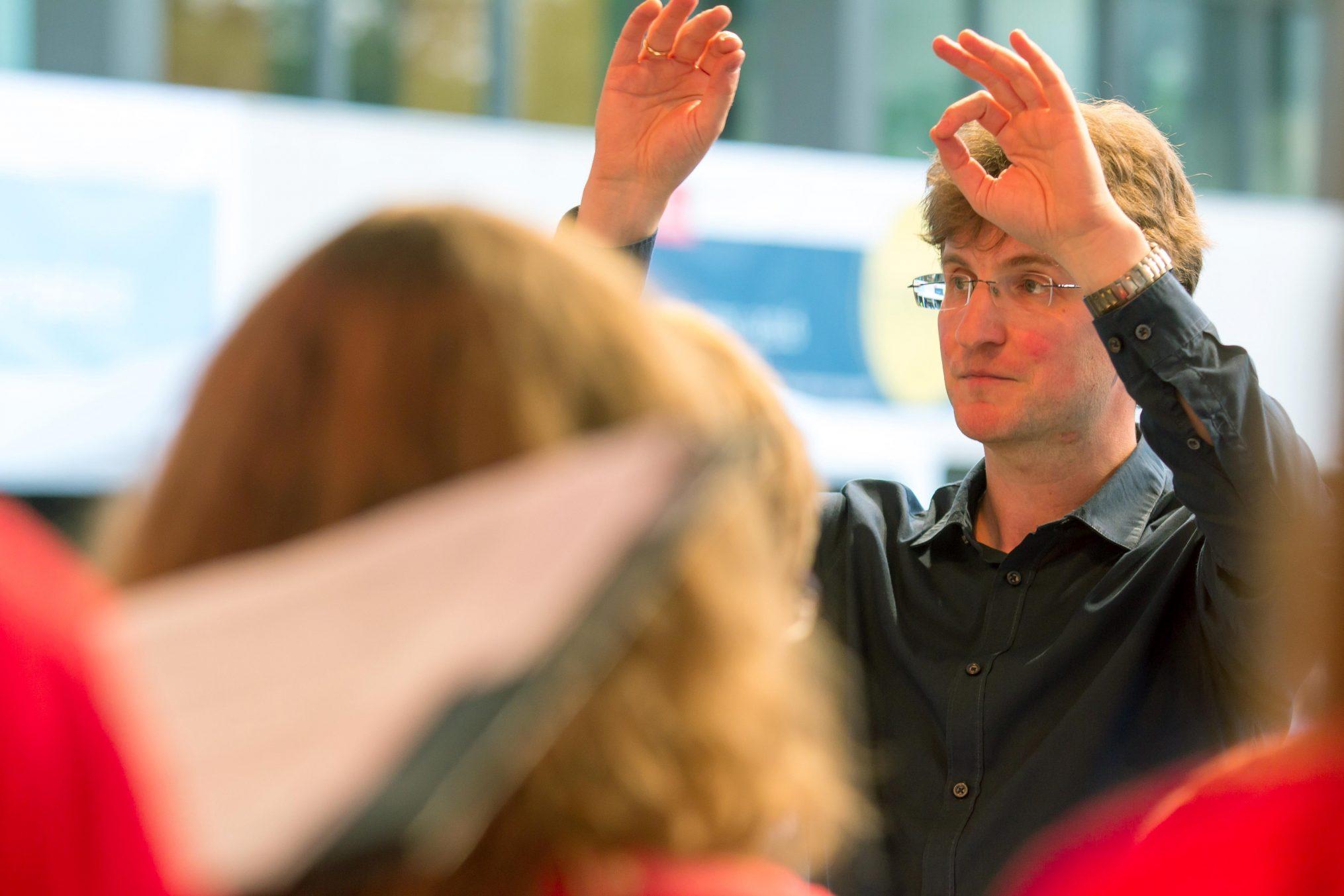 Sebastian Grünberg leitet den Unichor seit dem Wintersemester 2008/ 2009. Foto: TU Braunschweig/ Presse und Kommunikation