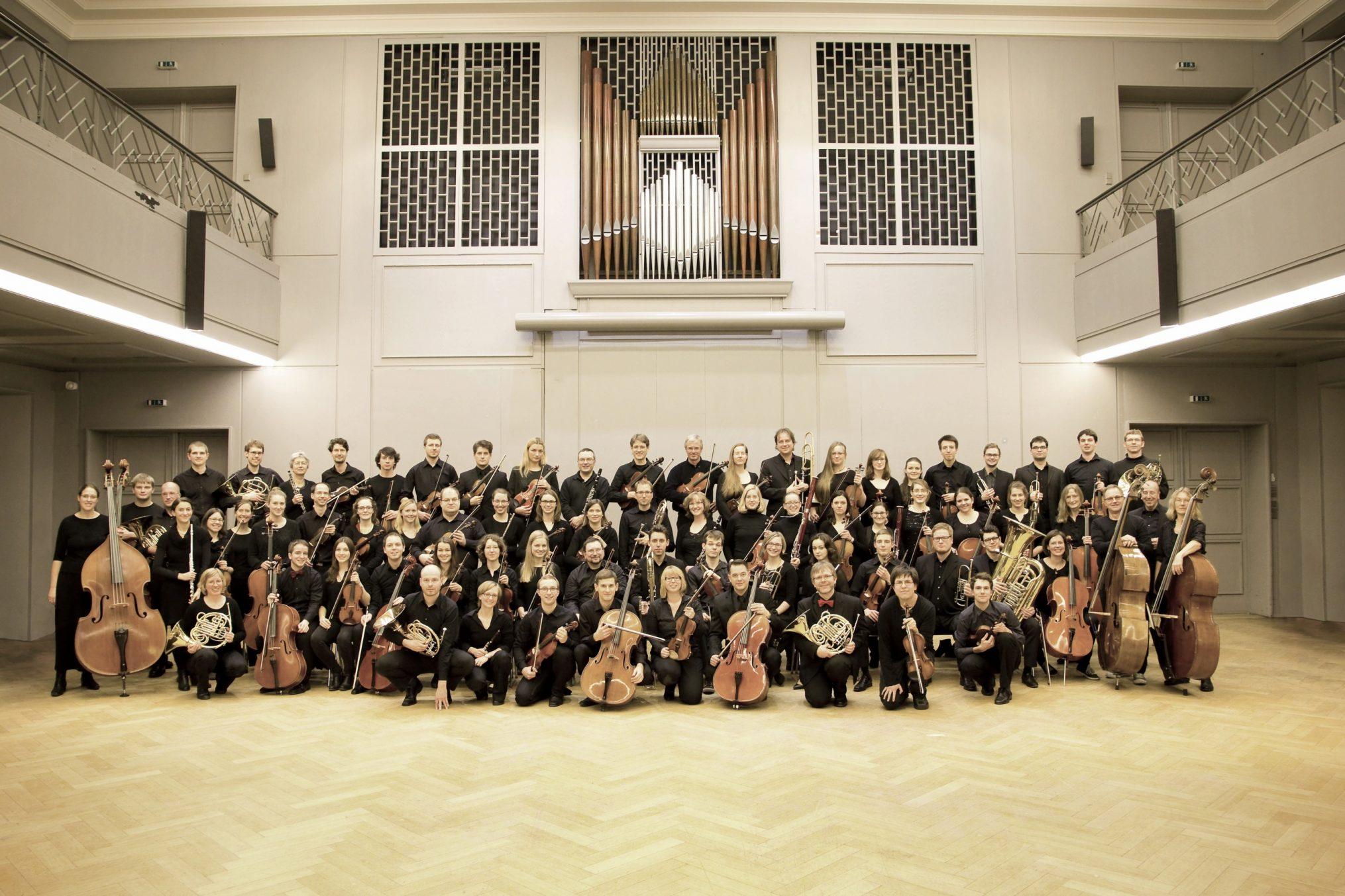 Gruppenfoto des Orchesters
