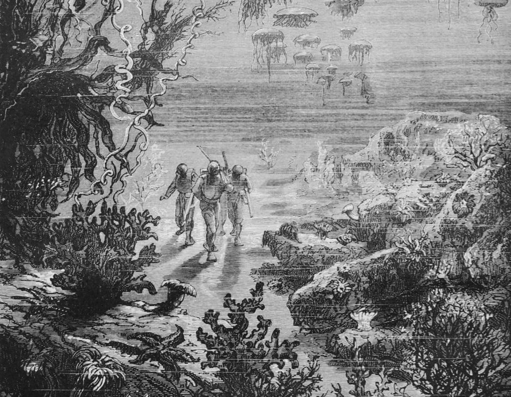 Bildnachweis: Alphonse de Neuville und Edouard Riouist: Jules Verne, Vingt milles lieues sour les mers, Paris: Hetzel 1878