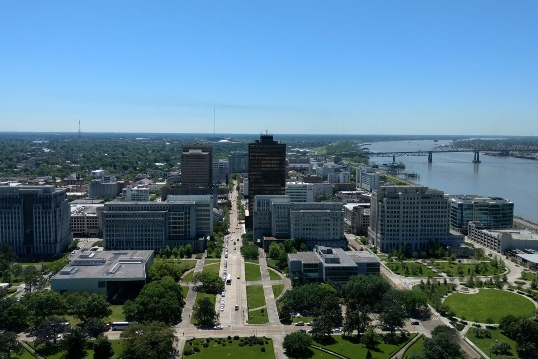 Zu sehen ist das Zentrum der Stadt Baton Rouge.