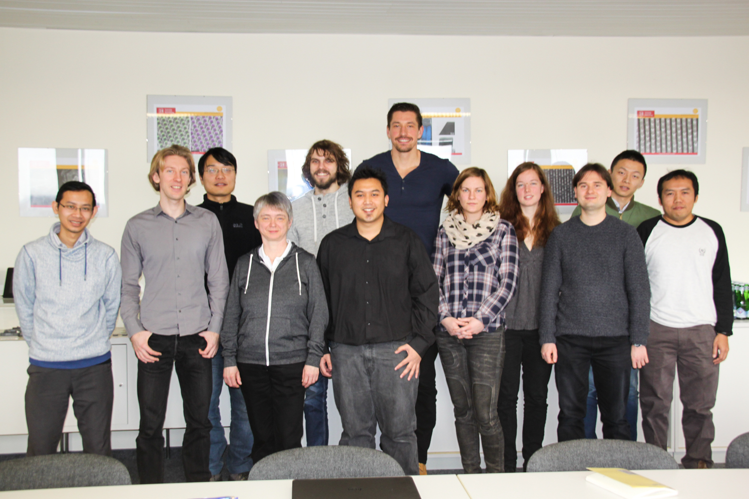 Left to right: Nursidik Yulianto, Nicolai Markiewicz, Feng Yu, Angelika Schmidt, Klaas Strempel, Dr. Hutomo Suryo Wasisto, Tony Granz, Juliane Breitfelder, Heidi Boht, Gregor Scholz, Wenze Wu, Iqbal Syamsu. Credit: Andrea Hoferichter: TU Braunschweig