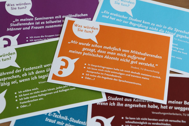 Frontansicht der Postkarten