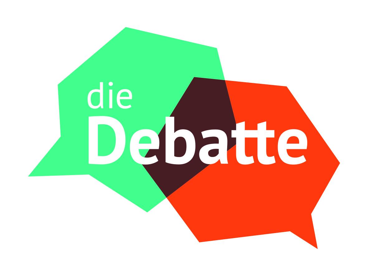 """Logo: """"Die Debatte"""" Bildnachweis: Wissenschaft im Dialog."""