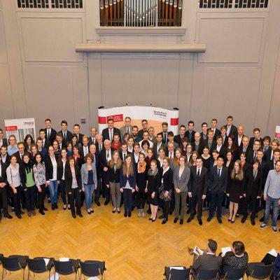 Gruppenbild der Deutschlandstipendiaten im Jahr 2015.