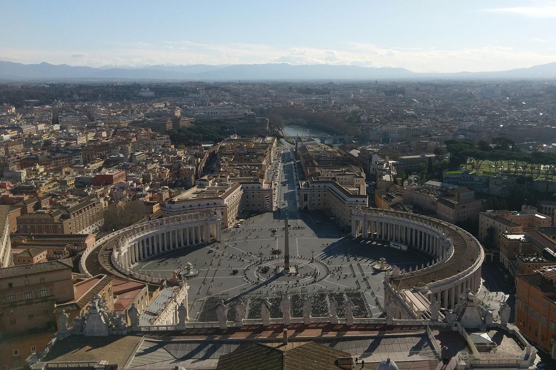 Der Petersplatz in Rom. Bildnachweis: Fenja Lehmann