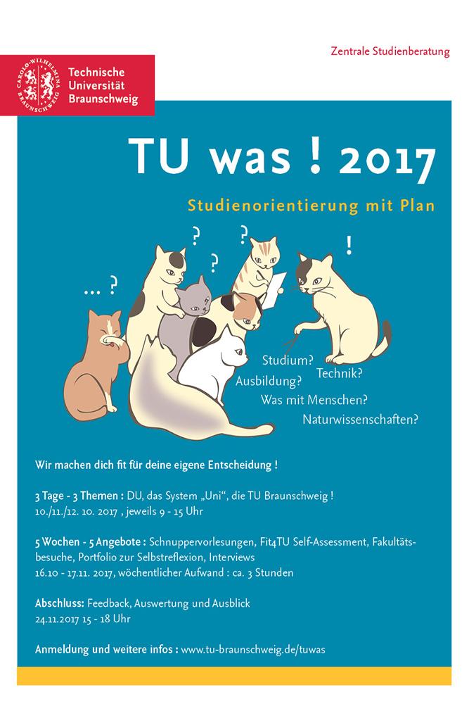 Plakat zur Ankündigung des Programms.