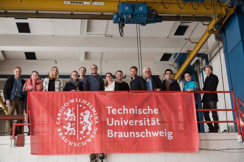 Teamfoto der braunschweiger Studierenden.