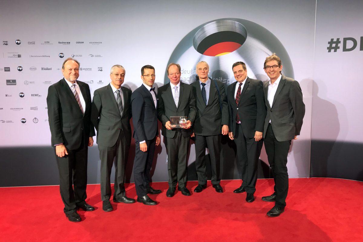 Dezember: Forschungsteam mit dem Deutschen Nachhaltigkeitspreis ausgezeichnet