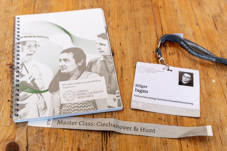 Tagungprogramm und -Ausweis von Hilger Jagau
