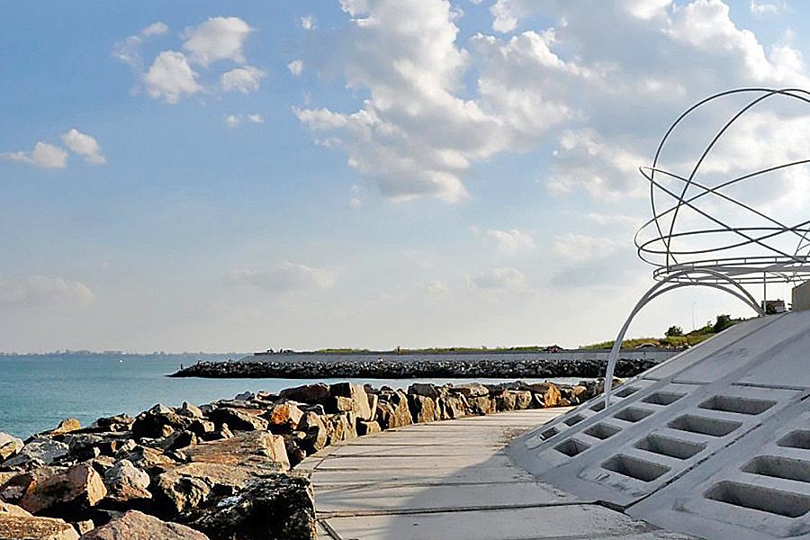 Zu sehen ist die Küste von Odessa.