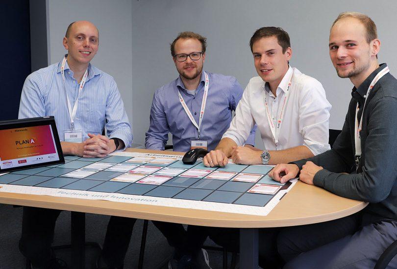 Zu sehen ist das vierköpfige Team des Start-ups.