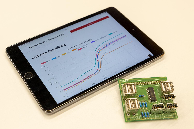 Die Daten können auch auf einem Tablet-Computer ausgewertet werden. Bildnachweis: Markus Hörster/TU Braunschweig