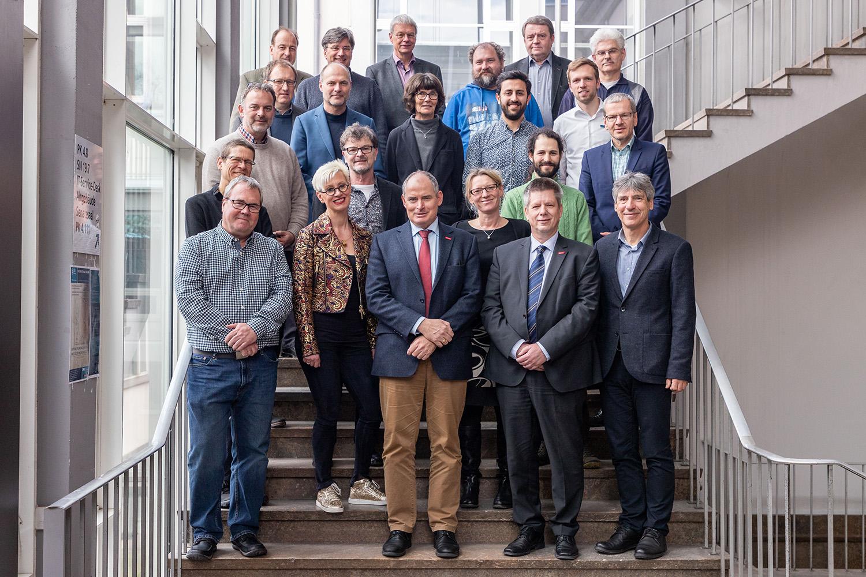 Dank für die geleistete Arbeit des Senats, der Ende März verabschiedet wurde. Bildnachweis: Markus Hörster/TU Braunschweig