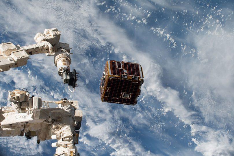 Die SmartSpace-Module sollen Daten von IoT-Geräten an ein übergeordnetes Satelliten-Backbone senden. (Symbolbild) Bildnachweis: Drew Feustel/NASA