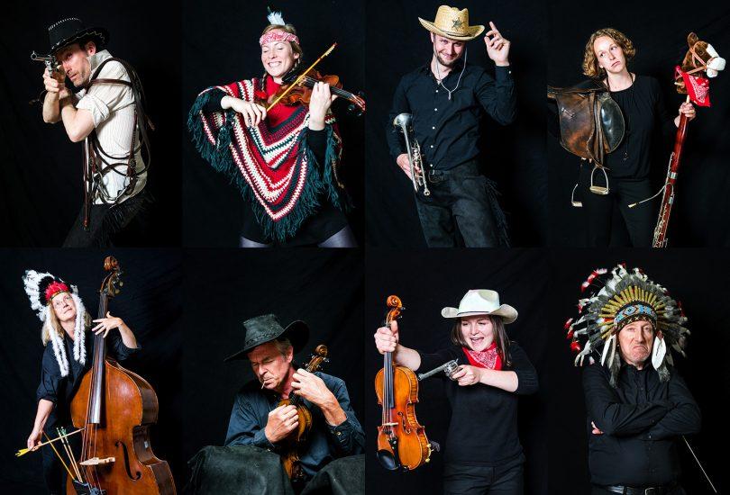 Das Uniorchester widmet sich dem Wilden Westen. Bildnachweis: Isabel Winarsch/TU Braunschweig