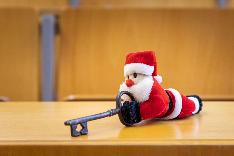 Bald kommt der Weihnachtsmann! Zeit, mal Pause einzulegen. Bildnachweis: Markus Hörster/TU Braunschweig