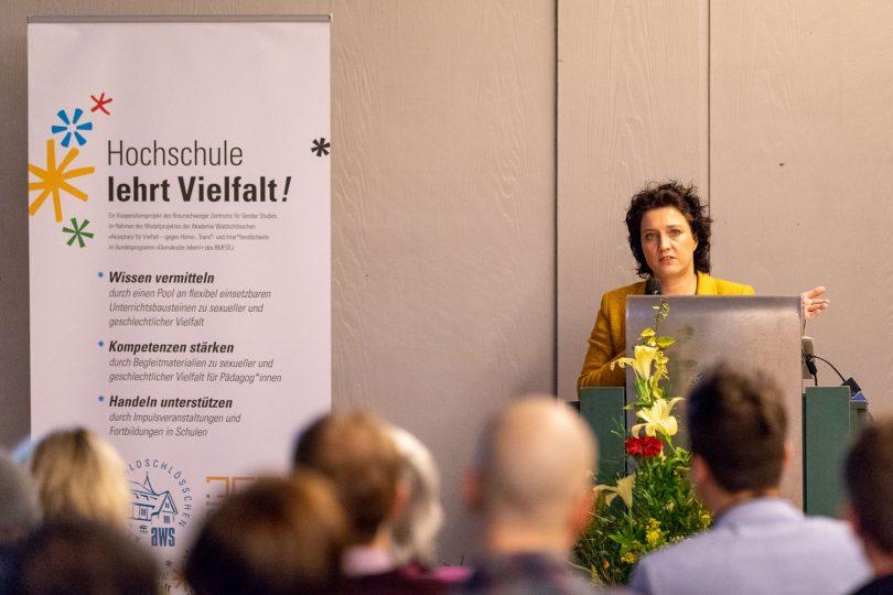 Niedersachsens Sozialministerin Dr. Carola Reinmann. Bildnachweis: Markus Hörster/TU Braunschweig