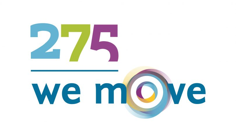 "Logo ""275 - we move"""
