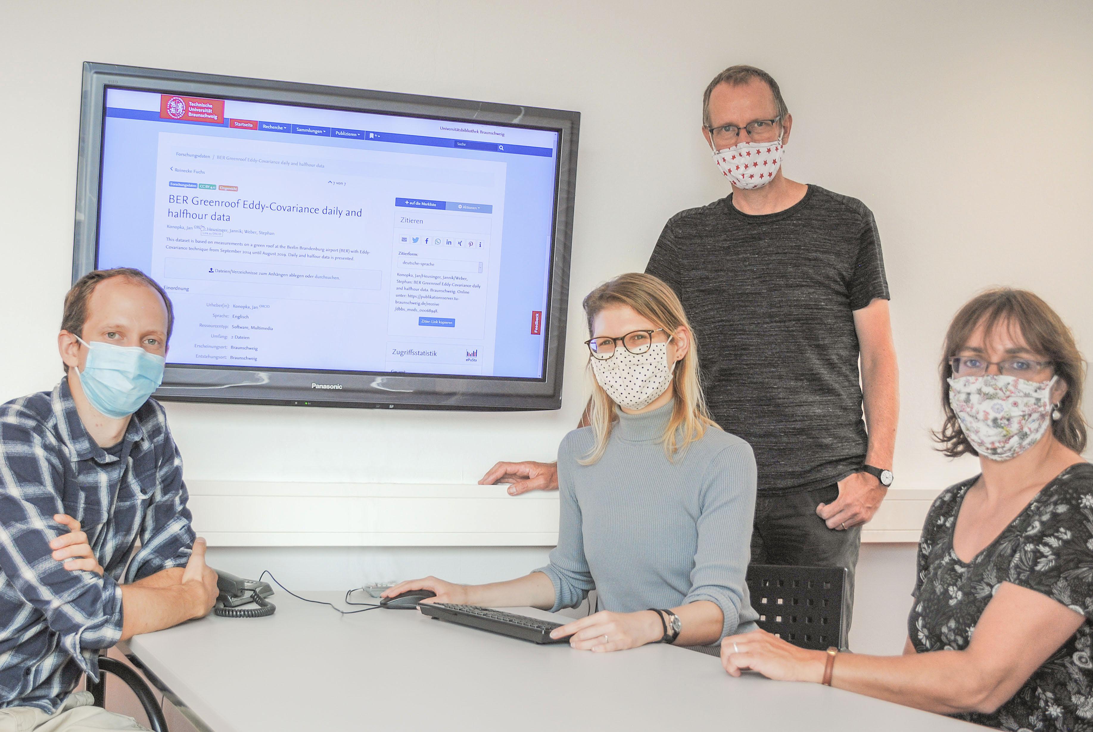 Das Team des Forschungsdaten-Repositoriums
