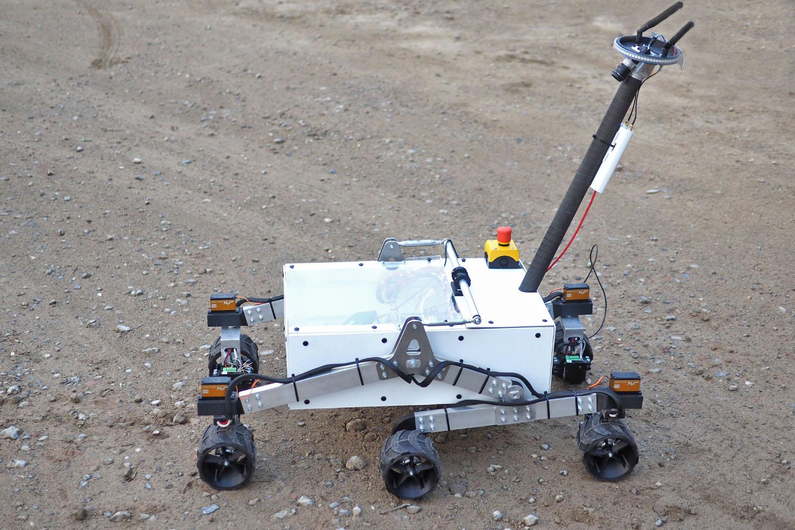 """Mars-Rover """"Orthos""""  im aktuellen Bauzustand."""
