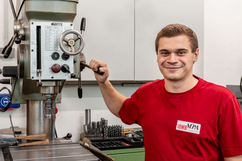 Azubi Niklas Böhm Industriemechaniker